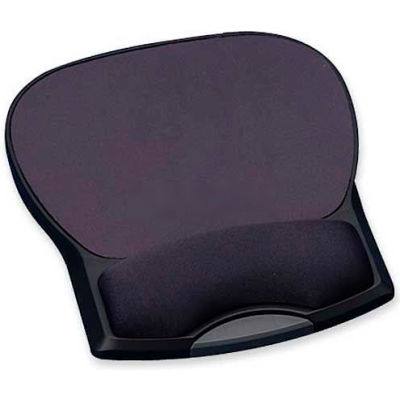 Compucessory 55302 Mouse Pad with Gel Wrist Rest, Charcoal