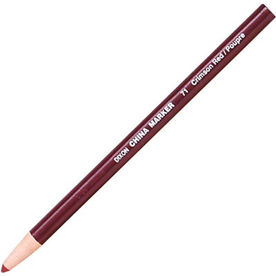 Dixon Phano Non-Toxic China Marker, Red Lead, Red Barrel