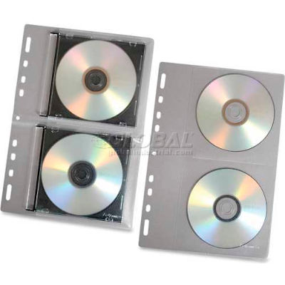Fellowes® Loose-Leaf CD Binder Sheets, 95304, Letter Size, 10/Pk, Clear