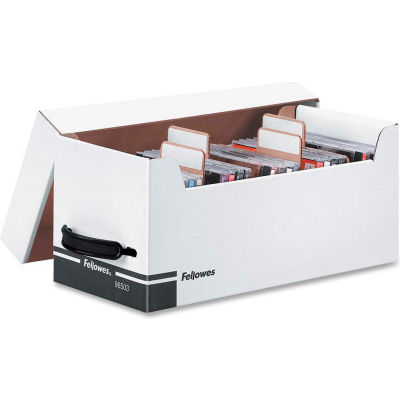 "Fellowes® Corrugated CD/Disk Storage, 96503, 125 5-1/4""Disks/35 CDs, 6-3/4"" X 15"" X 6-1/4"""