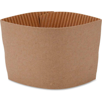 Genuine Joe GJO19049CT - Protective Corrugated Cup Sleeves, 10-16 oz., 1000/CT, Brown