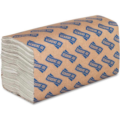 Genuine Joe 1 ply C-Fold Paper Towel, 200 Towels, 12CT, White - GJO21120