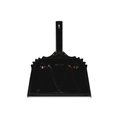 """Genuine Joe Heavy-Duty Metal Dustpan, 12"""", Black - GJO58143"""