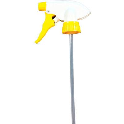 "Chemical Resistant Trigger Sprayer, Yellow, 7.75"" Tube, 24 Sprayers"