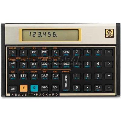 HP Business/Financial Calculator, HEW12C, 1 Line x 10 Digit LCD Display Screen, Battery Power