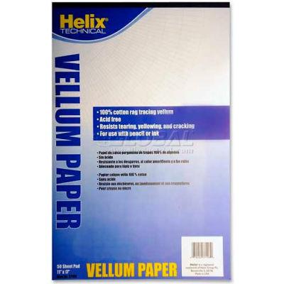 "Helix® Vellum Pad, 37106, 8.5""L X 17""W, 50 Sheets, White"