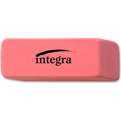 "Integra™ Pencil Eraser, Beveled End, Medium, 4/5""x2""x2/5"", Pink"