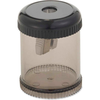 "Integra™ Pencil Sharpener, Single Hole, Plastic, 1-7/8"", Smoke/Black"