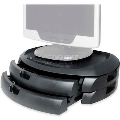 Kantek MS200B LCD Monitor Stand With Two Drawers, Black