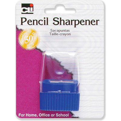 CLI® Pencil Sharpener, w/ Cone Receptacle, Assorted