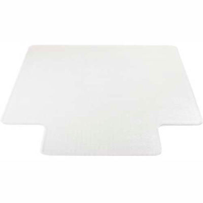 """Lorell® Office Chair Mat for Carpet - 53""""L x 45""""W, 0.13"""" Thick with 12"""" x 25"""" Lip - Beveled"""