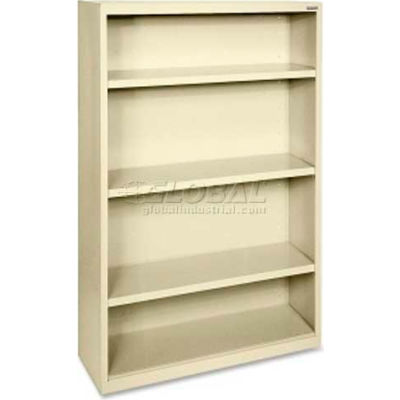 "Lorell Fortress Series 4-Shelf Bookcase, LLR41287, 13""W x 34-1/2""D x 60""H, Putty"