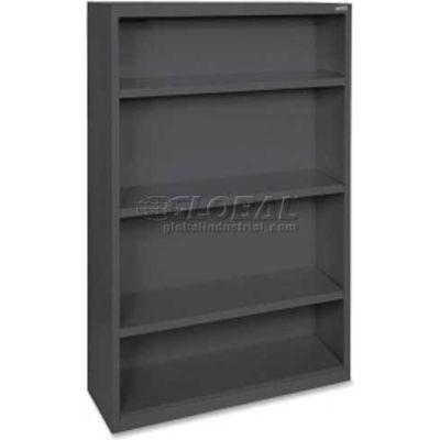 """Lorell Fortress Series 4-Shelf Bookcase, LLR41288, 13""""W x 34-1/2""""D x 60""""H, Black"""