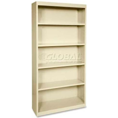 "Lorell Fortress Series 5-Shelf Bookcase, LLR41290, 13""W x 34-1/2""D x 72""H, Putty"
