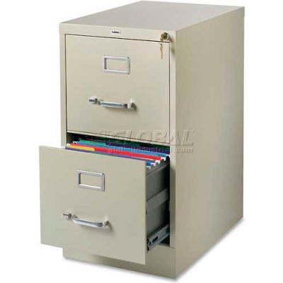 """Lorell® 2-Drawer Commercial-Grade Vertical File Cabinet, 15""""W x 22""""D x 28""""H, Putty"""