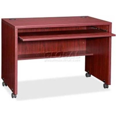 "Lorell® Computer Workstation - 41-3/8""W x 23-5/8""D x 29-1/2""H - Mahogany - Essentials Series"