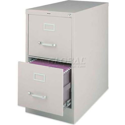 """Lorell® 2-Drawer Heavy Duty Vertical File Cabinet, 15""""W x 26-1/2""""D x 28-3/8""""H, Putty"""