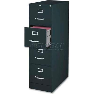 "Lorell® 4-Drawer Heavy Duty Vertical File Cabinet, 18""W x 26-1/2""D x 52""H, Black"
