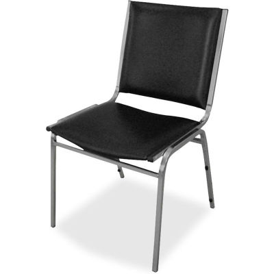 """Lorell® Padded Armless Stacking Chair, 20-3/4""""W x 19-1/2""""D x 35-5/8""""H, Black, 4/Carton"""