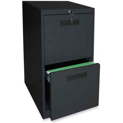 """Lorell® File/File Mobile Pedestal File, 15""""W x 23""""D x 28""""H, Black"""