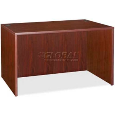 "Lorell® Rectangular Desk Shell - 47.3""W x 23-2/3""D x 29-1/2""H - Mahogany - Essentials Series"