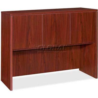 "Lorell® Hutch With Doors - 48""W x 17""D x 36""H - Mahogany - Essentials Series"