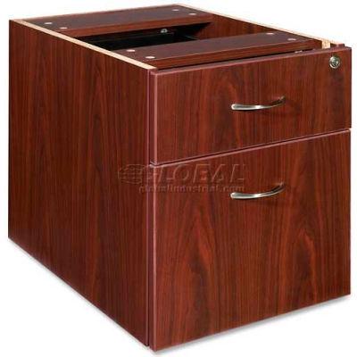 "Lorell® Hanging Pedestal - 16""W x 22""D x 19""H - Mahogany - Essentials Series"
