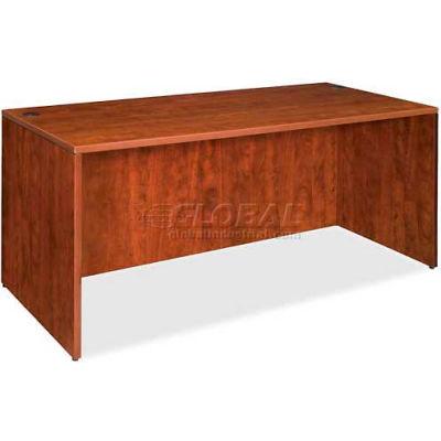 """Lorell® Rectangular Desk Shell - 60""""W x 30""""D x 29-1/2""""H - Cherry - Essentials Series"""