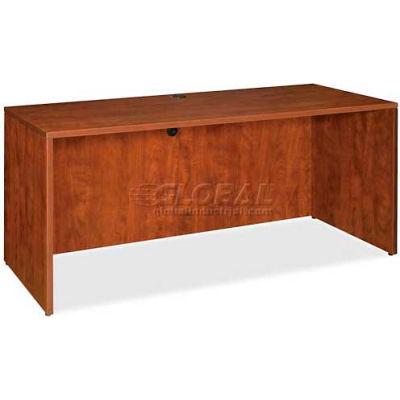 "Lorell® Credenza Shell - 66""W x 24""D x 29-1/2""H - Cherry - Essentials Series"