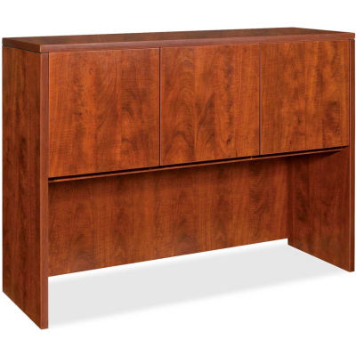 "Lorell® Hutch With Doors - 48""W x 17""D x 36""H - Cherry - Essentials Series"