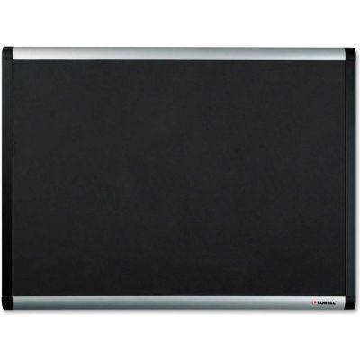 "Lorell Mesh Bulletin Board with Silver/Black Frame, 48""W x 36""H"