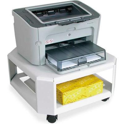 "Martin Yale™ 1-Shelf Mobile Printer Stand, 17""W x 17""D x 9""H, Gray"