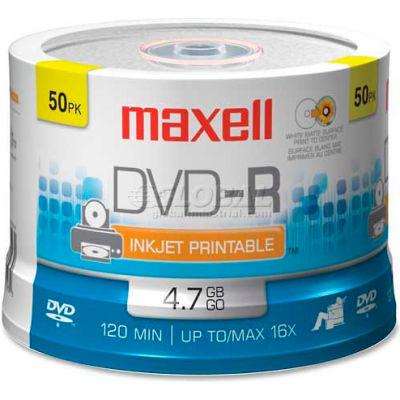 Maxell DVD Recordable Media, MAX638022, DVD-R Media, 16x Speed, 4.70 GB Capcity
