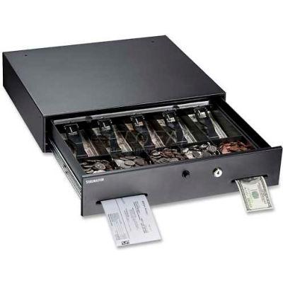 """MMF SteelMaster Touch-Button Cash Drawer 225106001, 17.8""""W x 15.8""""H x 3.8""""H, Black, Gray"""