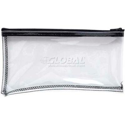 """MMF Zipper Top Wallet Bag, MMF234041720, 11"""" Width x 6"""" Length, Clear"""