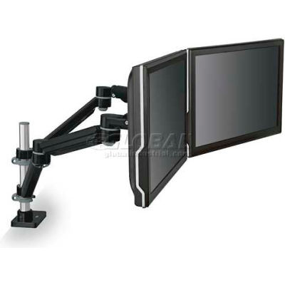 3M™ Easy Adjust Dual Monitor Arm, Black