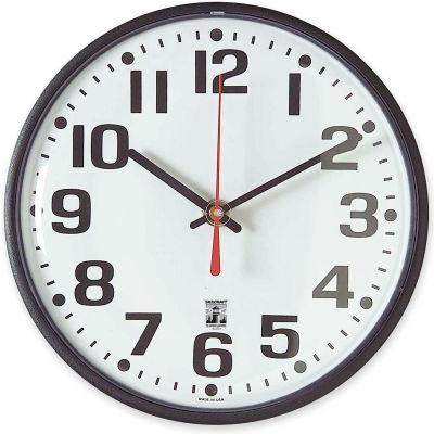 "SKILCRAFT 8"" Black Body Selfset Wall Clock, Black"