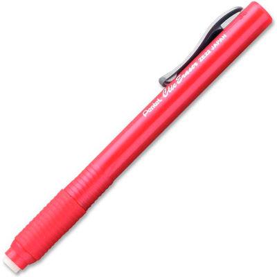 Pentel® Clic Retractable Eraser, Refillable, Red Barrel
