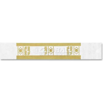 PM Company Self-Adhesive Color-Coded Currency Straps 55010 $10,000 in $100 Bills Yellow, 1000/Pack