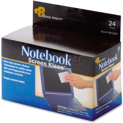 Read Right® Premoistened Screen Kleen, Lint-Free, 24/Box - REARR1217