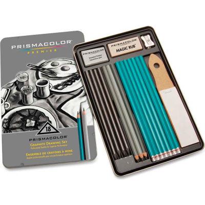 Prismacolor Premier Graphite Set, 8B, 6B, 4B, 2B, B, HB, 2H, 4H, 6H Pencils, Graphite Lead, 18/Pk