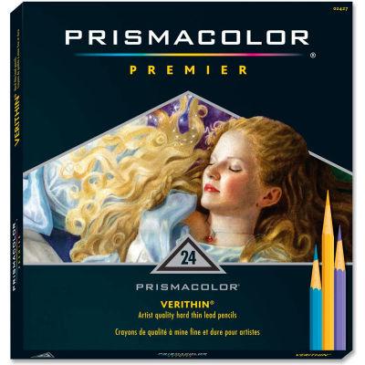 Prismacolor Verithin Colored Pencil, Assorted Lead, Assorted Barrel, 24/Set