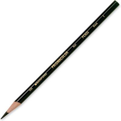 Prismacolor Premier Colored Pencil, Black Lead, Black Barrel, 12/Dozen