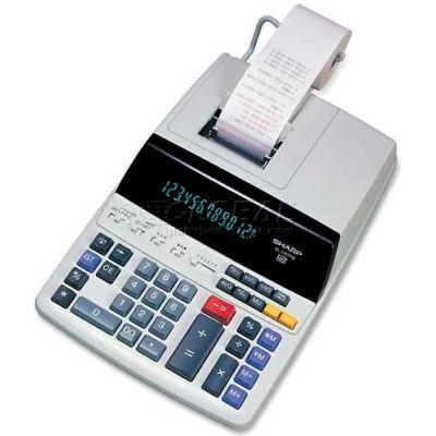 "Sharp® 12-Digit Calculator, EL1197PIII, 2 Color Printing, 8-1/2"" X 10-1/2"" X 2-3/4, White"