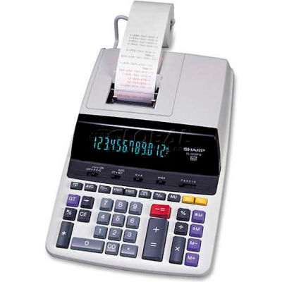 "Sharp® 12-Digit Calculator, EL2630PIII, 2 Color Printing, 8-1/4"" X 11-1/3"" X 2-1/5"", White"