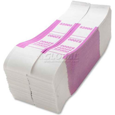 Sparco Color-Coded Quick Stick Currency Band BS2000WK $2000 in $20 Bills Violet, 1000 Bands/Pack