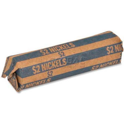 Sparco Flat Coin Wrapper TCW05, $2 Nickels Capacity, Price Pack of 1000