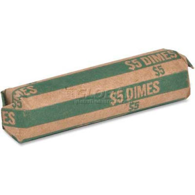 Sparco Flat Coin Wrapper TCW10, $5 Dimes Capacity, Price Pack of 1000