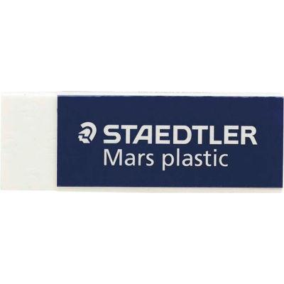"Staedtler® Plastic Eraser, Latex-free, 2-1/2"" x 7/8"" x 1/2"", 4/PK, White"