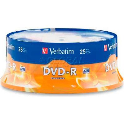 Verbatim® DVD-R, 9505816X Speed, 4.7GB, Branded, 25/Pk